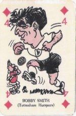 1961 , Kaartspel Engelse spelers (met clubnaam)